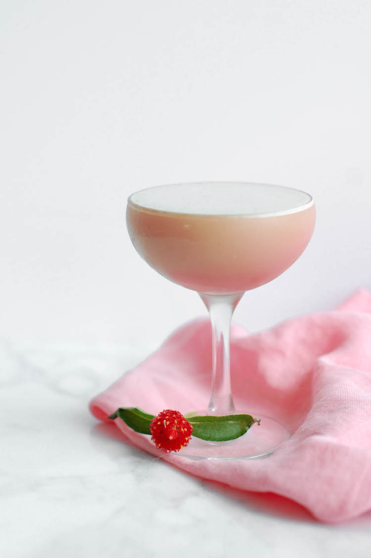 Brown Butter Rhubarb cocktail // Craftandcocktails.co