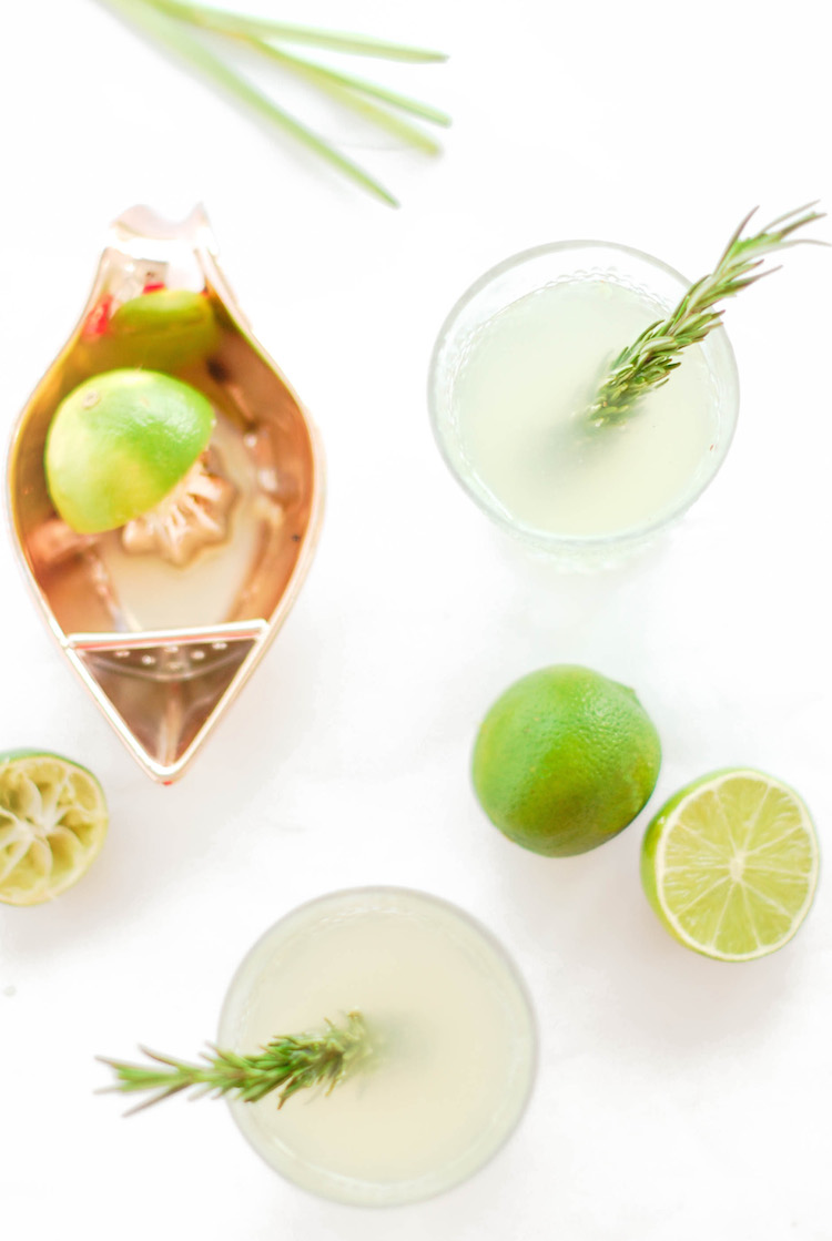 rosemary lemongrass cooler :: Craft & Cocktails for Glitter Guide