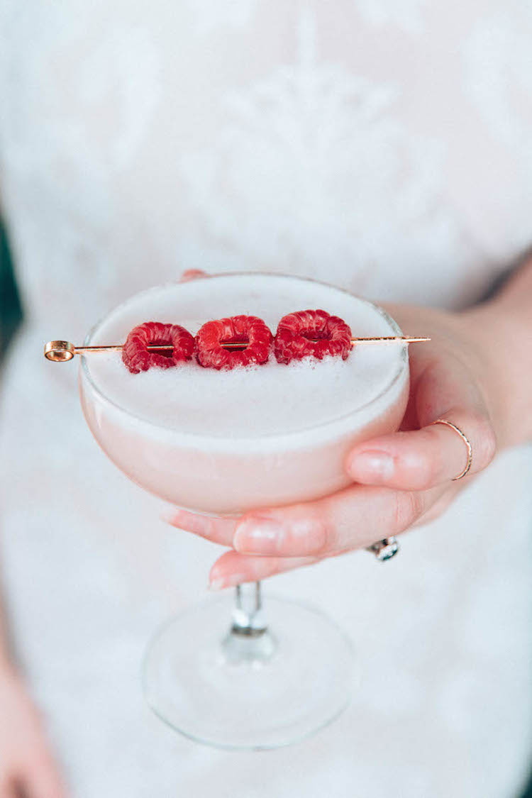 Strawberry Clover Club // Craft & Cocktails for BFF Frosting