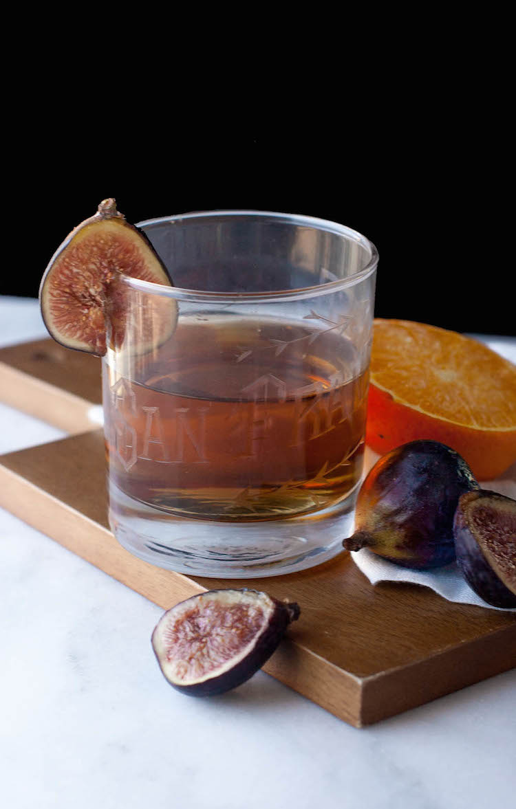 rum fig old fashioned + giveaway // Craftandocktails.co