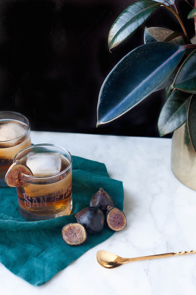 rum fig old fashioned + giveaway // craftandcocktails.co