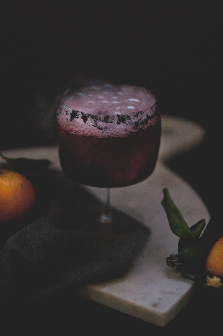 A Smokey Mezcal Halloween Cocktail with dry ice // Craftandcocktails.co