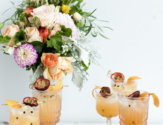 passion fruit bourbon cocktail // Craft & Cocktails for SFGirlByBay