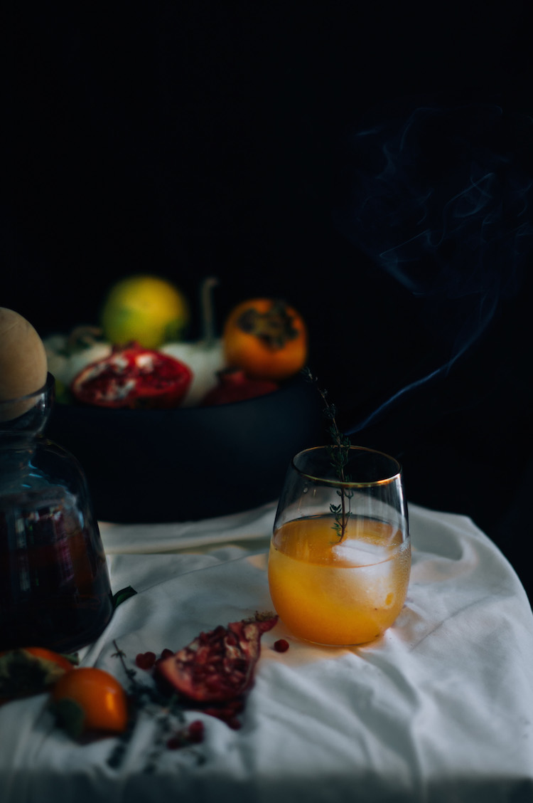 smoked thyme rye sour // craftandcocktails.co for Sfgirlbybay