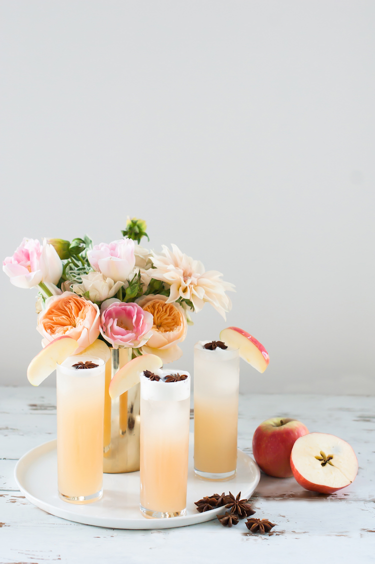 Apple Brandy Spice Fizz // craftandcocktails.co for Sugar & Cloth