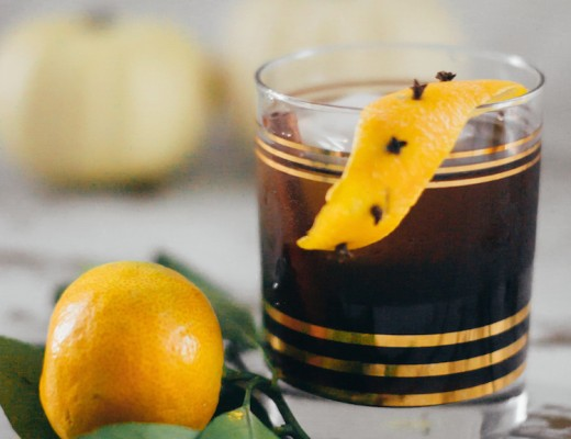 Pumpkin & Spice Old Fashioned // Craftandcocktails.co