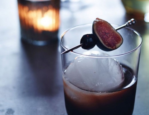 Fig & Noccino New Fashioned // craftandcocktails.co for Williams Sonoma