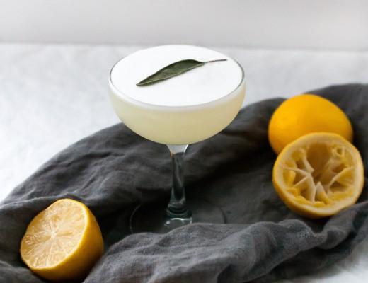 Meyer Lemon + Sage Sour // craftandcocktails.co