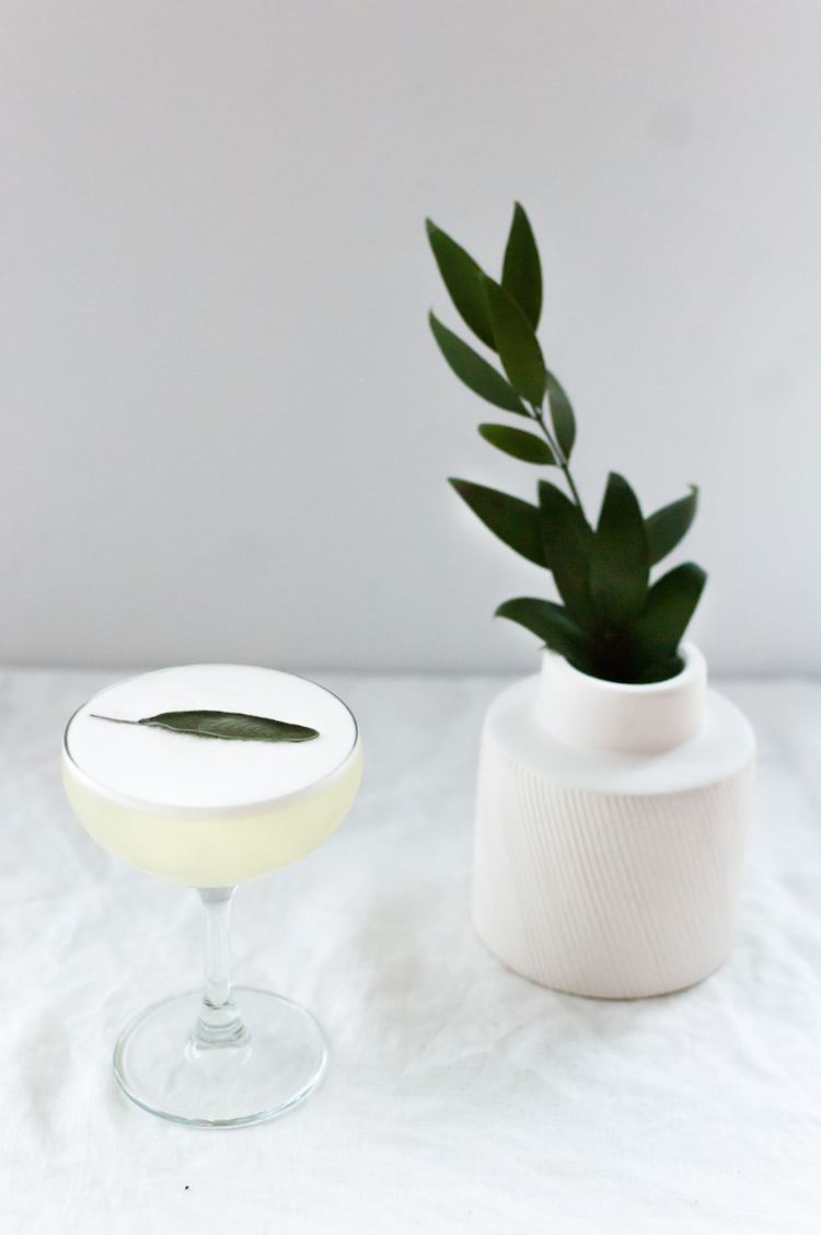 Meyer Lemon + Sage Sour // craftandcocktails.co