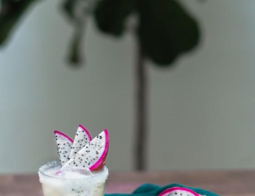 Pineapple Dragon Fruit Margarita // craftandcocktails.co