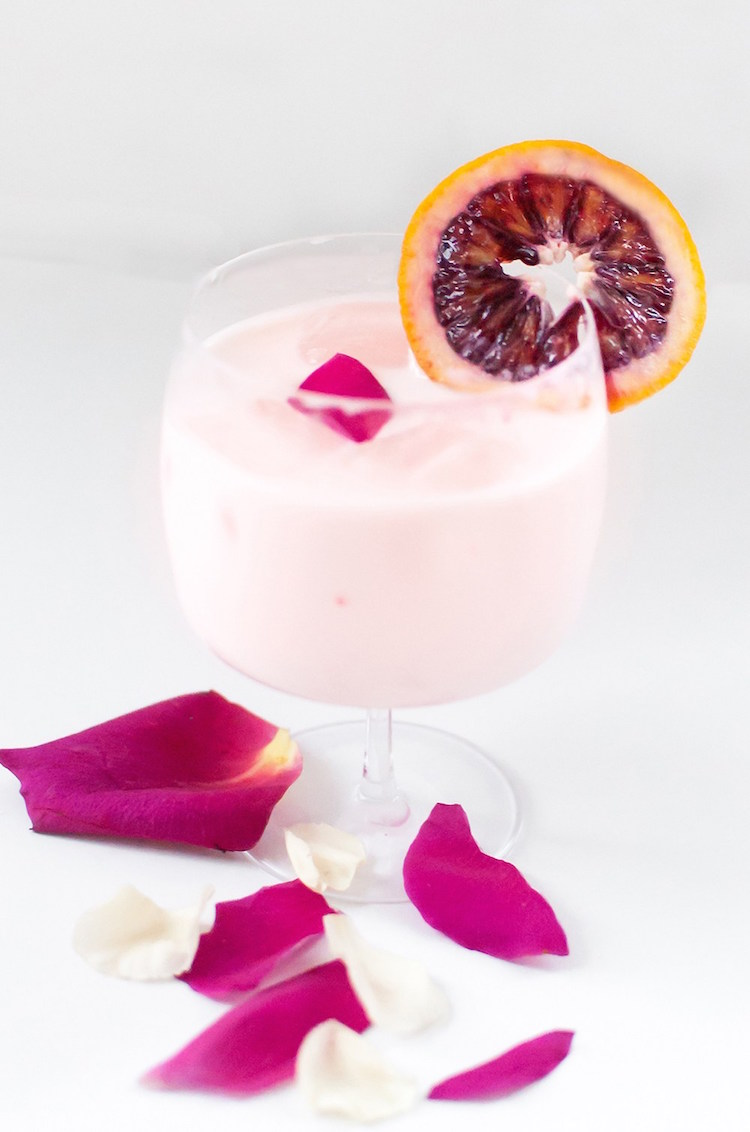 blood orange rose creamsicle // craftandcocktails.co for Sugar + Cloth