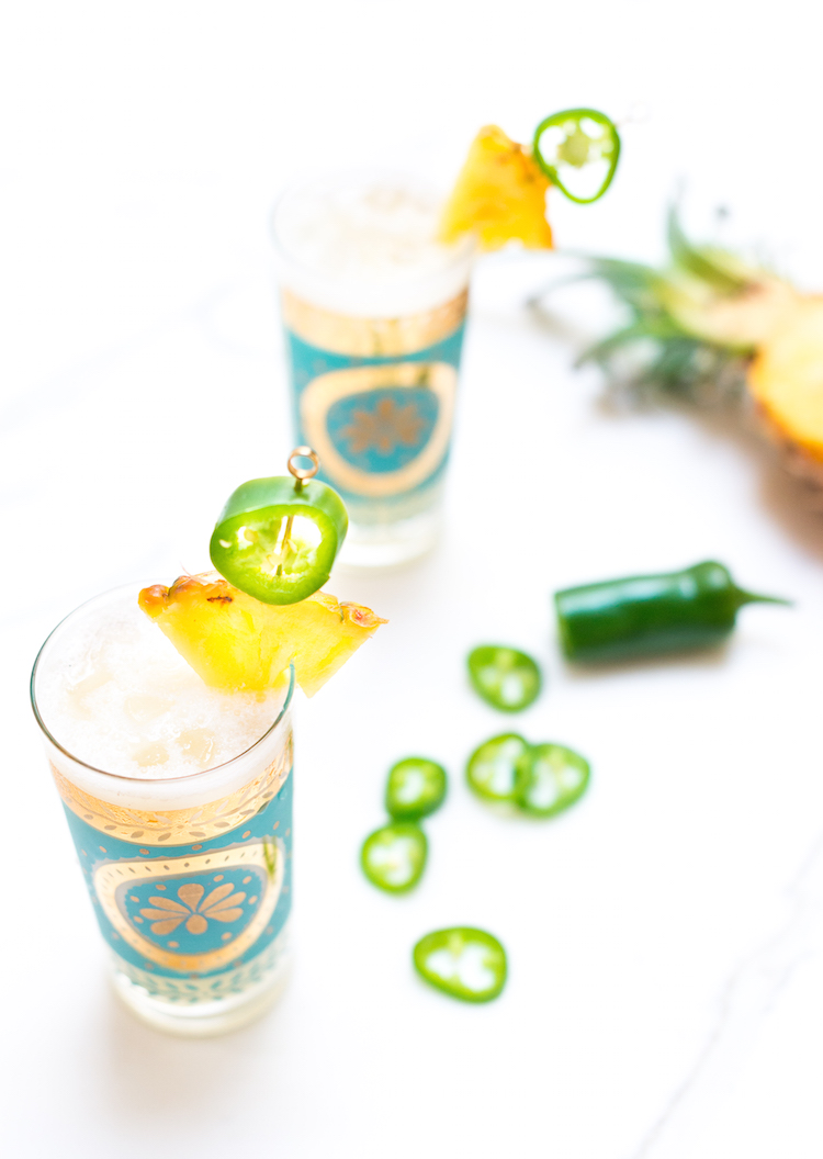 Jalapeño Piña Coloda recipe // Craftandcocktails.co