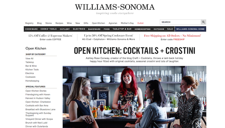Williamsn Sonoma + Craft & Cocktails