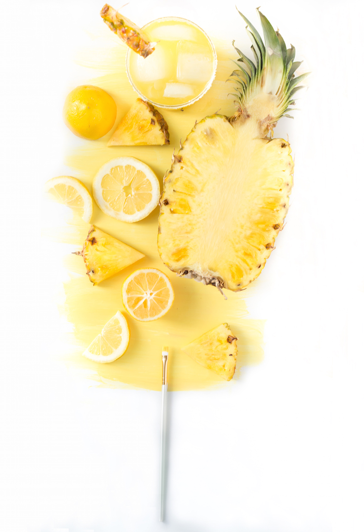 Pineapple Lemon Margarita recipe // Craftandcocktail.co Glossary of Color Margaritas for @sugarandcloth