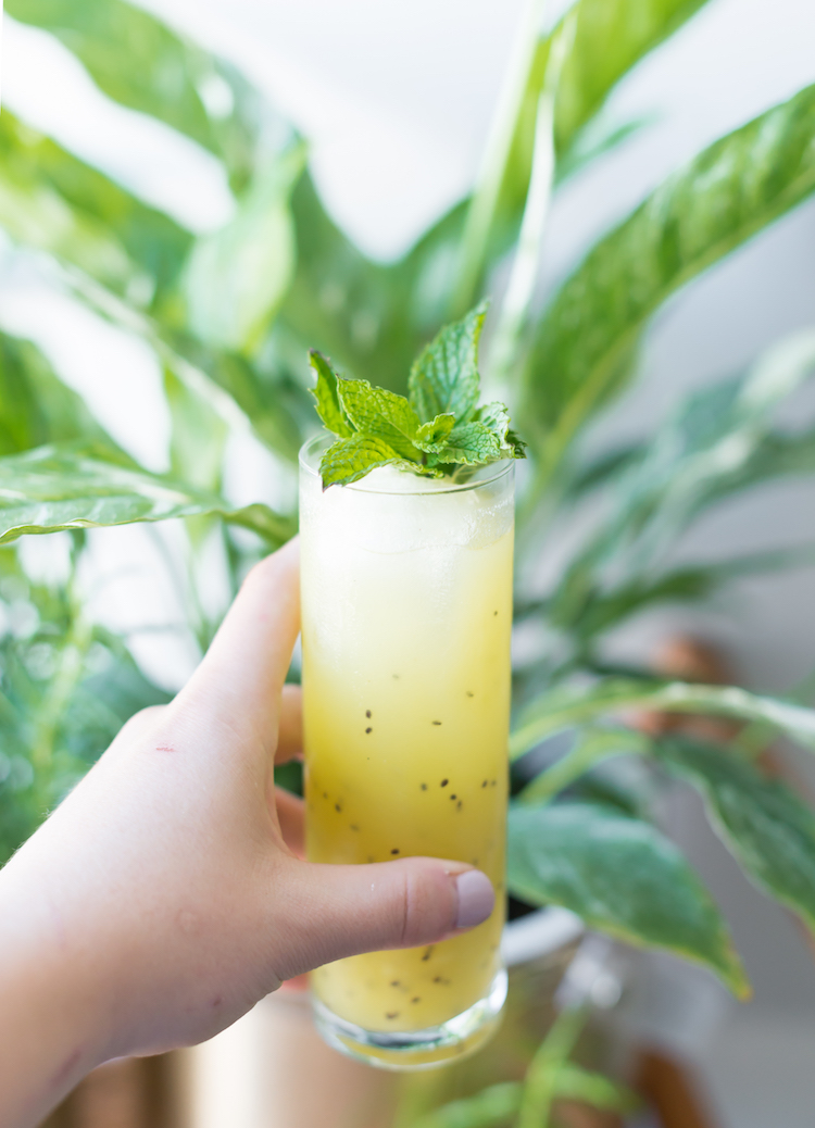 Kiwi Bird cocktail recipe // craftandcocktails.co