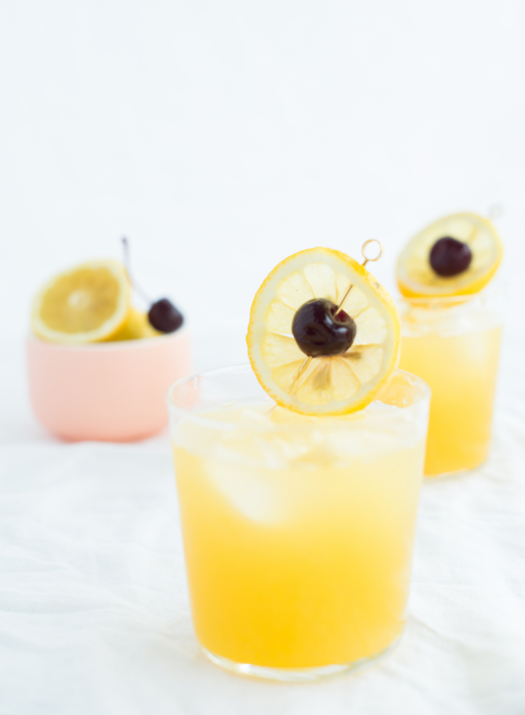 Pineapple Whiskey Sour cocktail // craftandcocktails.co