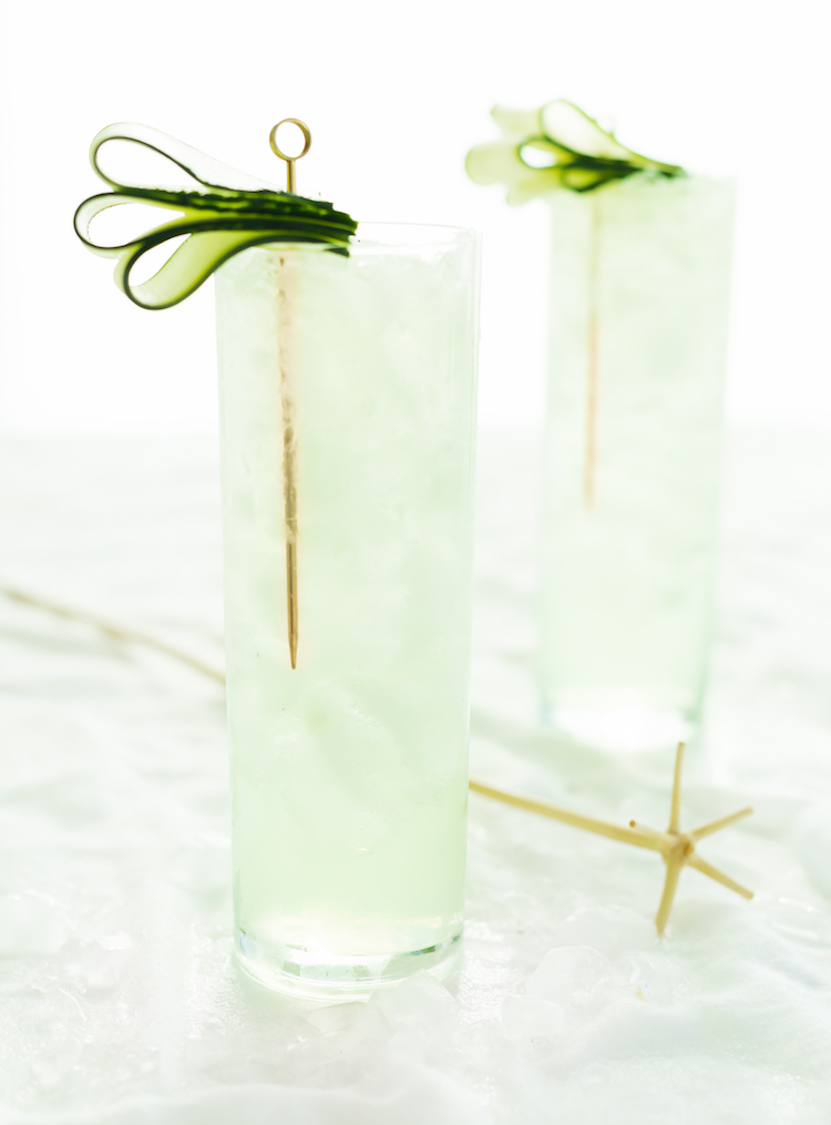 Gin Cucumber and Chartreuse Swizzle // craftandcocktails.co