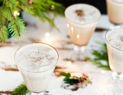 Spiked Holiday Eggnog // Craftandcocktails.co