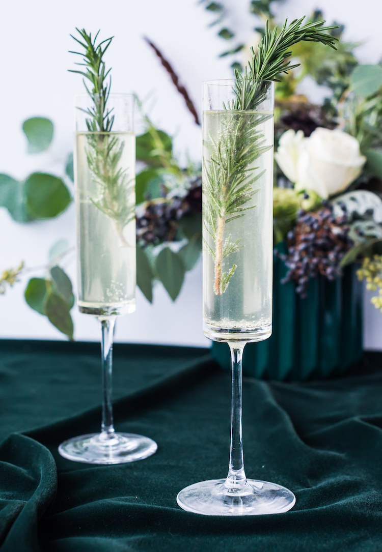 Rosemary French 75 | craftandcocktails.co