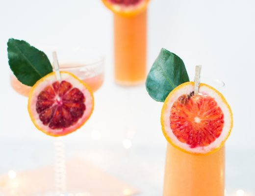 Blood Orange & Elderflower Sparkler | craftandcocktails.co