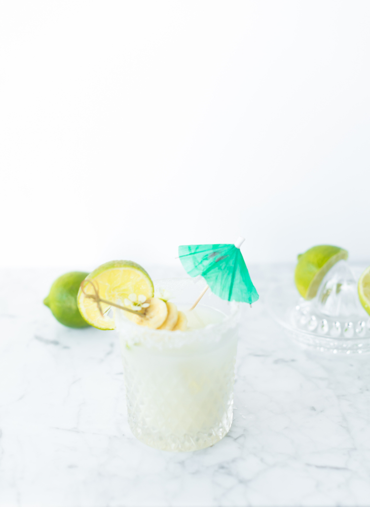 Banana Coconut Margarita | recipe on Craftandcocktails.co
