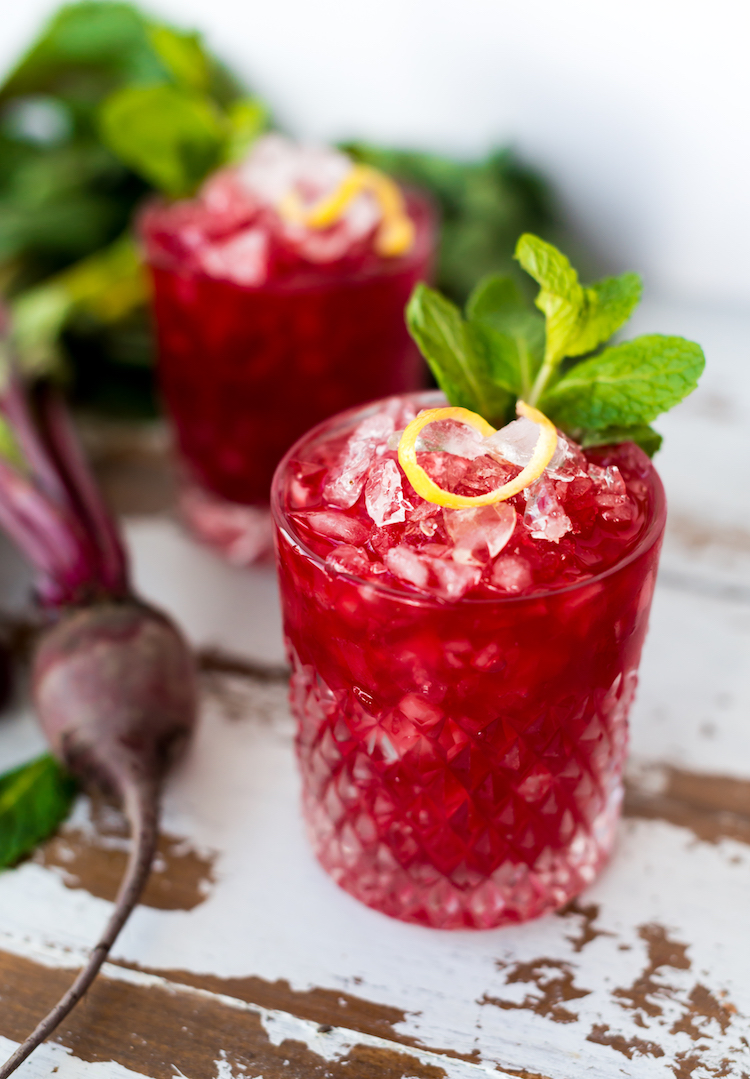 Boozy Beet Shrub Cocktail | recipe on Craftandcocktails.co