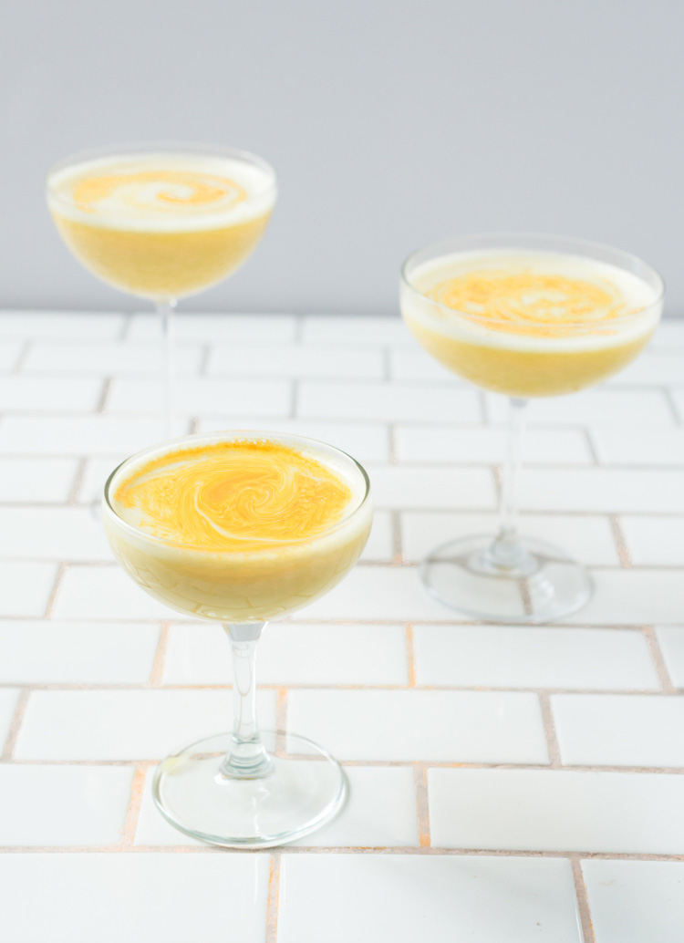 Golden Milk Turmeric Cocktail // Get the recipe on Craftandcocktails.co