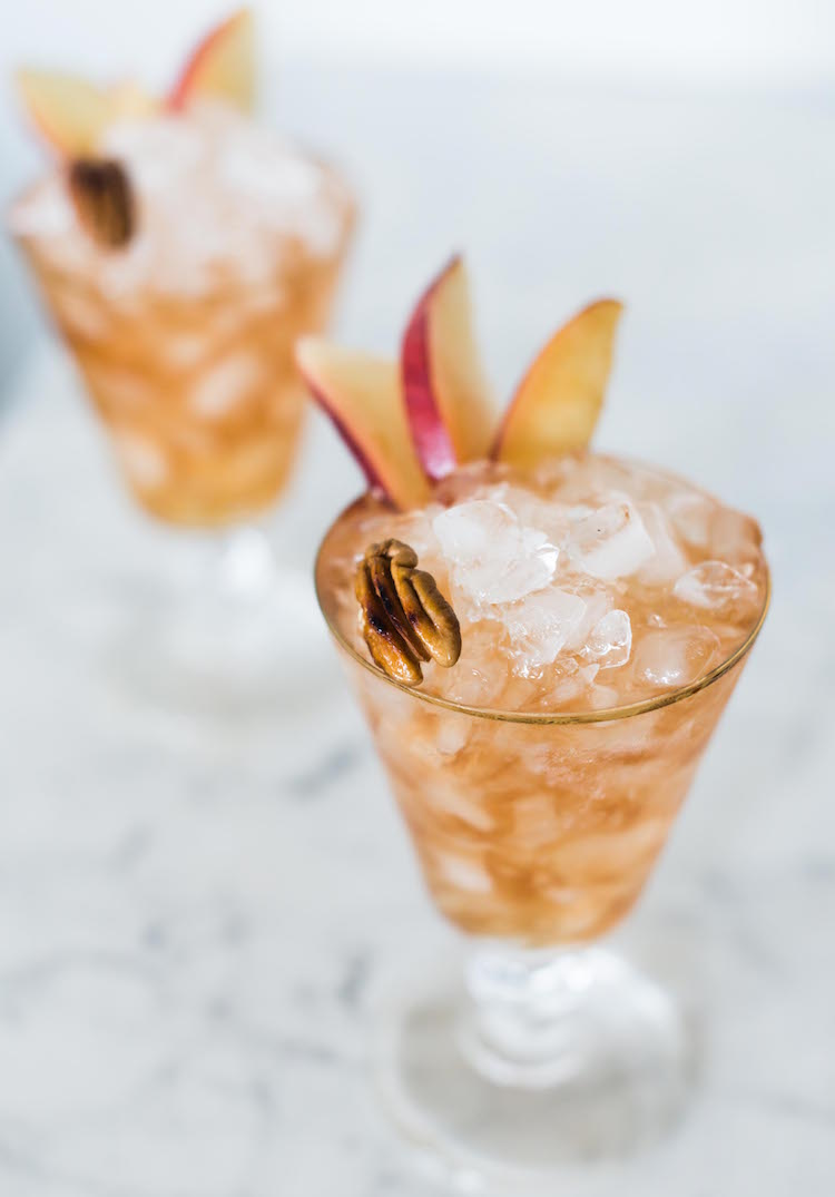 Bitter Pecan Peach Dandy cocktail | recipe on Craftandcocktails.co