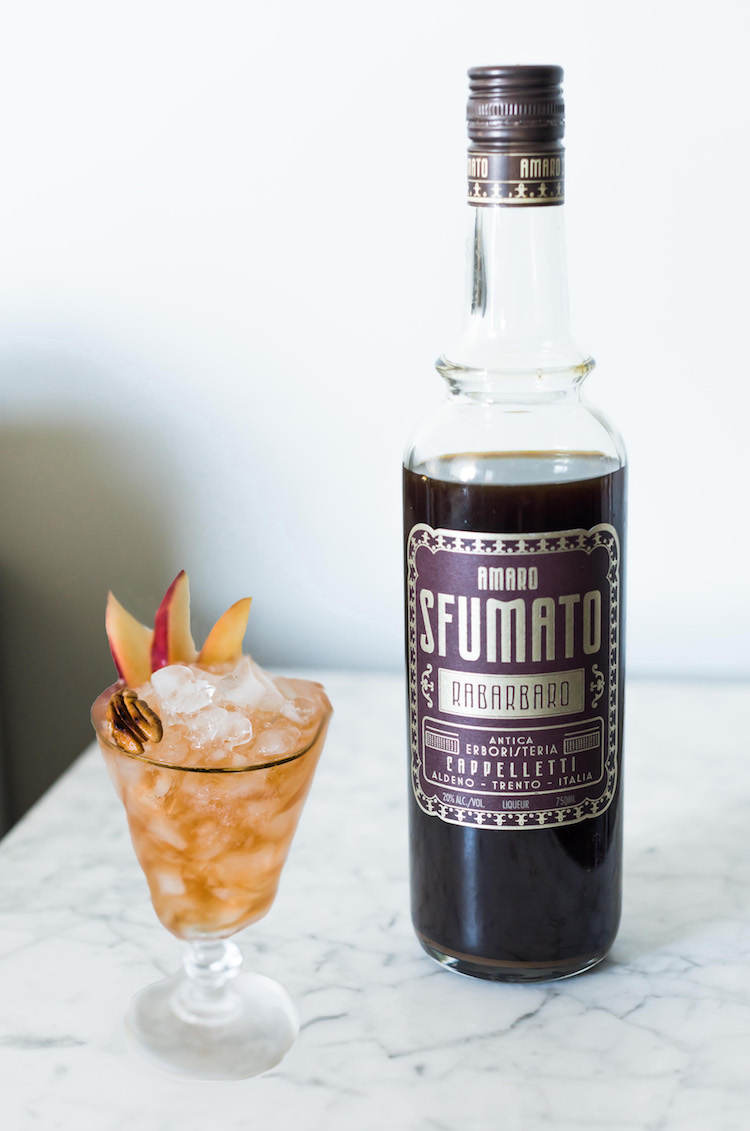 Bitter Pecan Peach Dandy with Sfumato cocktail | recipe on Craftandcocktails.co
