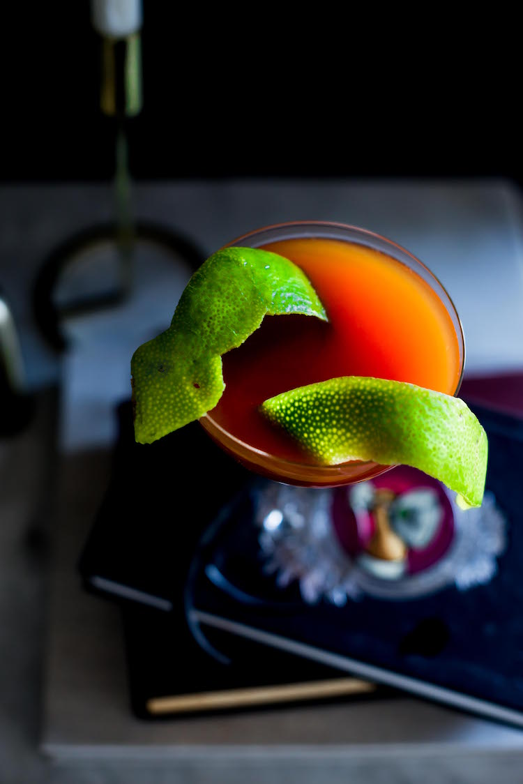 Snake Charmer halloween cocktail | recipe on Craftandcocktails.co