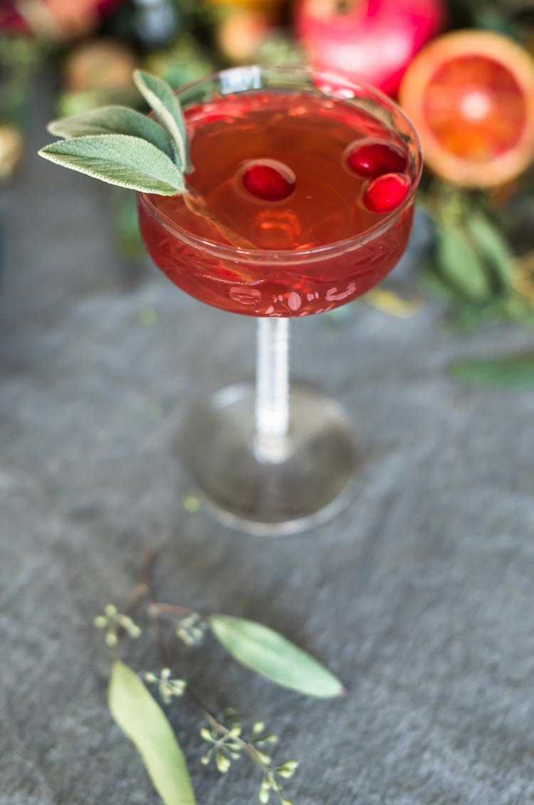 Sage Advice- Sage and Cranberry Sauce Cocktail for Thanksgiving | recipe on Craftandcocktails.co