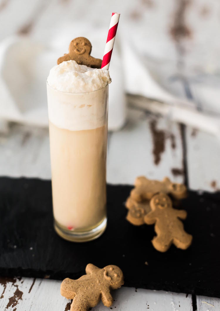 Gingerbread Ramos Gin Fizz | recipe on Craftandcocktails.co