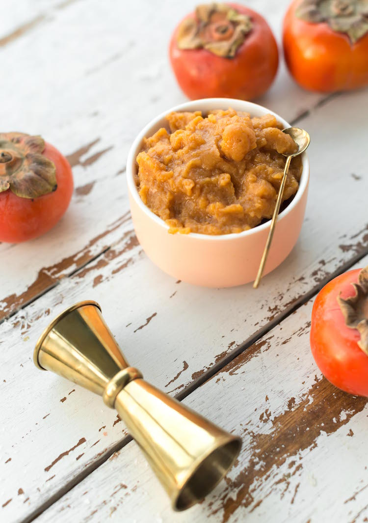 Persimmon Butter for cocktails, toasts, and baking | recipe on Craftandcocktails.co