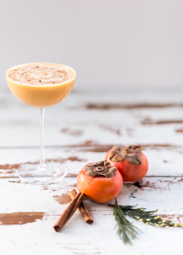 Persimmon Butter Rum Flip | cocktail recipe on Craft & Cocktails (Craftandcocktails.co)