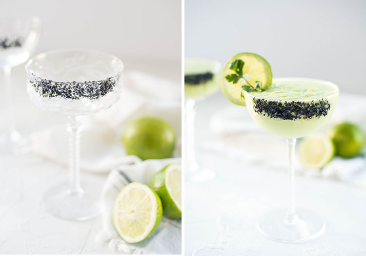 Frozen Avocado Cilantro Margarita | recipe and video on craftandcocktails.co