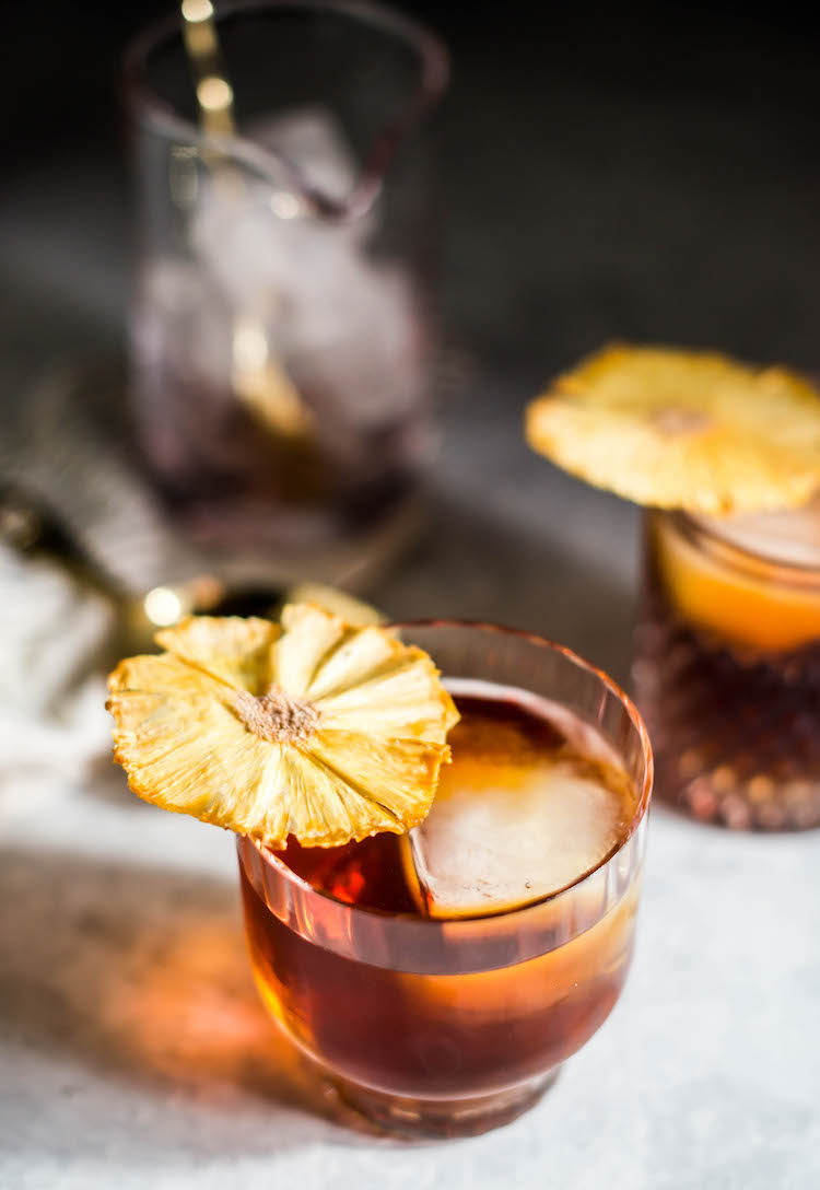 Coco Banana Pineapple Rum Old Fashioned - Craft and Cocktails