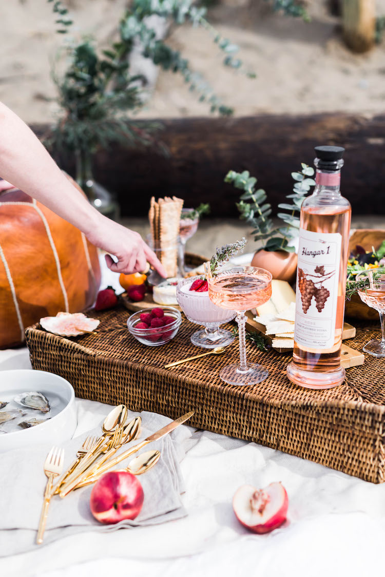 Rosé Disposition Peach Rosé Vodka cocktail | recipe on Craftandcocktails.co