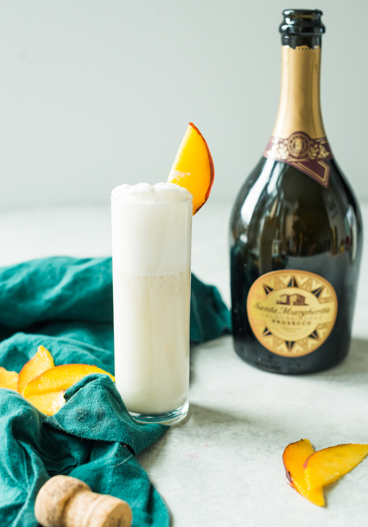 Prosecco Peach Ramos Fizz | Craft & Cocktails
