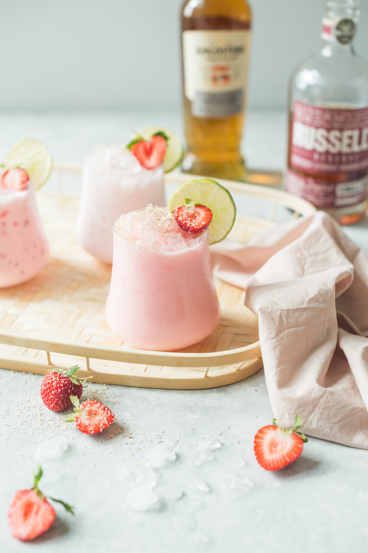 Strawberry Coconut Rum Bourbon Cooler