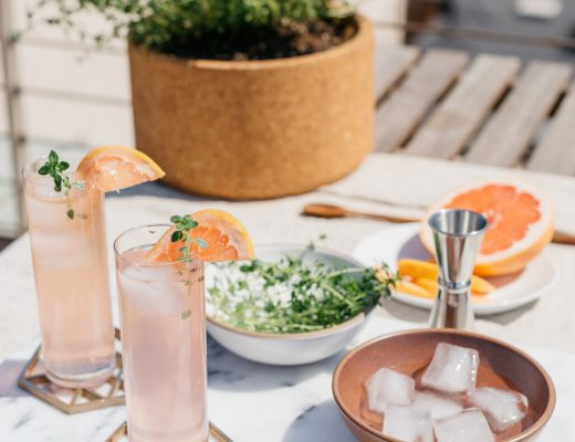 Summer Rooftop Soireé + Grapefruit Vanilla Thyme Fizz // craftandcocktails.co