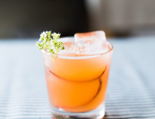 Pluot Shrub Cocktail Recipe // Craftandcocktails.co
