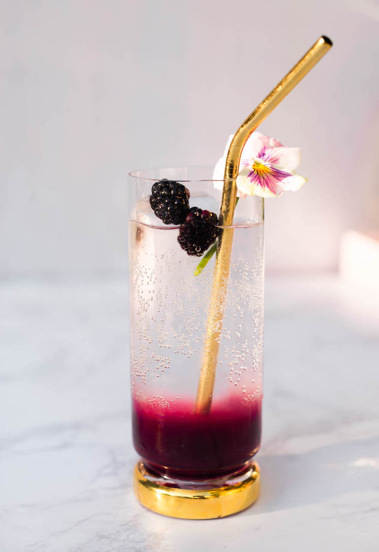 Vanilla Blackberry Brandy Highball