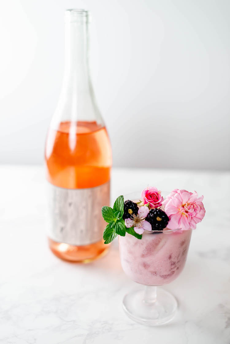 Rosé Breakfast Bramble