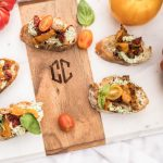 Tomato Pepper Toasts with Whipped Basil Goat Cheese